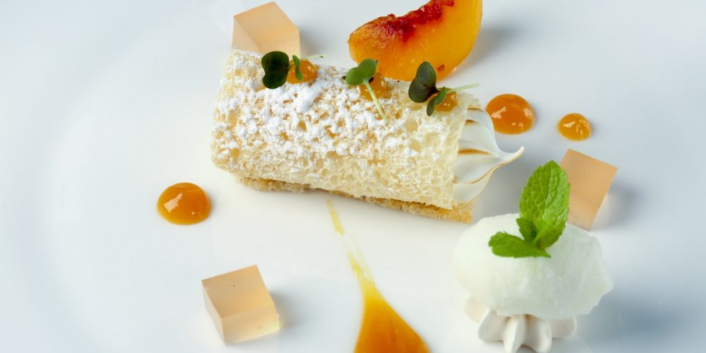 Dessert at The de Mondion Restaurant - a fine dining restaurant in Malta situated in The Xara Palace Relais & Chateaux