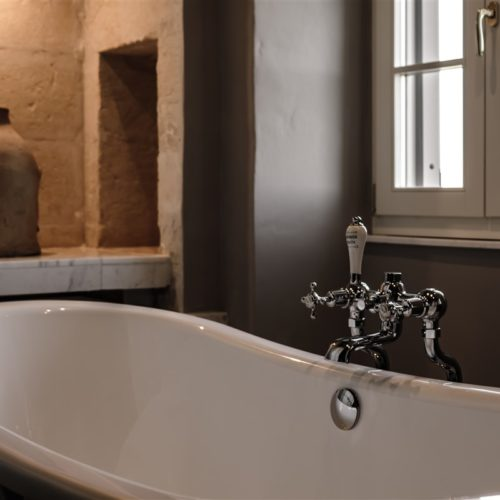 A free standing bath in the Executive Suite with Panoramic View within The Luxury Boutique Hotel , The Xara Palace Relais & Chateaux Mdina Malta