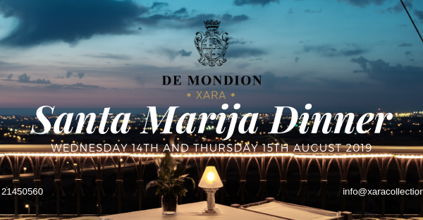 The official poster of the annual Santa Marija Dinner at the de Mondion Restaurant, The Xara Palace Relais & Chateaux, Mdina, Malta